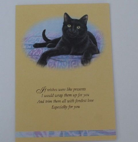 Black Cat  card with verse